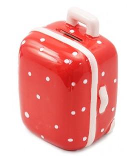 Копилка декоративная керамическая «Феникс Презент» 10*9*6 см, «Чемодан» красный