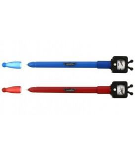 Ручка шариковая детская одноразовая с фигуркой стержень синий, Disney, ассорти