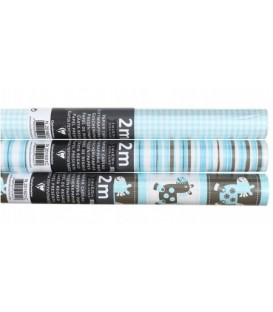 Бумага упаковочная подарочная Clairefontaine Alliance Paper 2 м*70 см, Baby Blue, ассорти