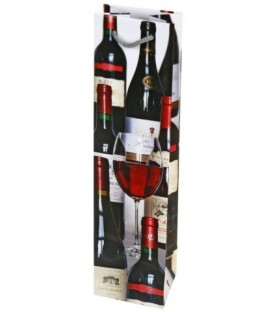 Пакет подарочный для бутылок «Пакет-принт» 10*40*9 см