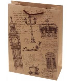 Пакет подарочный «Лиа Пак» 22*31*10 см, London
