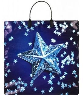 Пакет подарочный «Тико-пластик» 35*35 см, «Звездочки на синем»