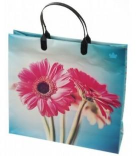 Пакет подарочный «ТИКО-Пластик» 30*30 см, 140 мкм, «Герберы»