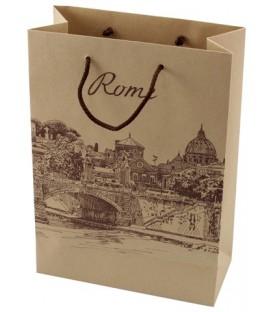 Пакет подарочный бумажный 22*31*10 см, Rome