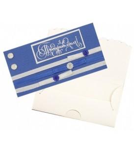 Открытка-конверт ручной работы поздравительная 80*160 мм, «Поздравляем!»