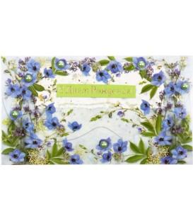 Открытка-конверт поздравительная 90*157 мм, «С Днем Рождения!»