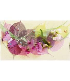 Открытка-конверт поздравительная 90*157 мм, «Цветы»