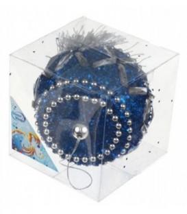 Украшение елочное «Барабан» 10 см, синее