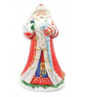 Фигурка новогодняя «Дед Мороз» 14,3*12,3*25,4 см, в красном костюме