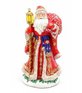 Фигурка новогодняя «Дед Мороз» 13,2*12,5*25,3 см, в красном костюме