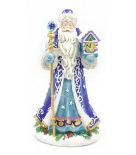 Фигурка новогодняя «Дед Мороз» 14,3*12,7*26 см, в синем костюме