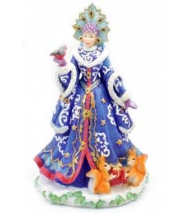 Фигурка новогодняя «Снегурочка» 15,3*13*25,5 см, в синем костюме