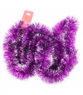 Мишура елочная 60 мм*2 м, фиолетовая