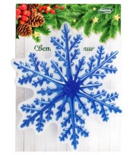 Картинка световая новогодняя диаметр 12 см, на присоске, «Снежинка»