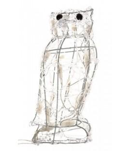 Гирлянда декоративная «Сова» 19*15*30 см, 20 лампочек, теплый белый свет