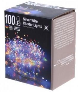 Гирлянда электрическая 1,5 м, 100 лампочек, разноцветные