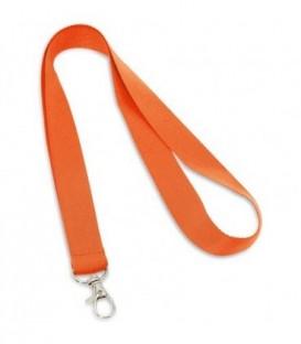 """Тесьма с карабином для бейджа """"94405"""" оранжевый"""