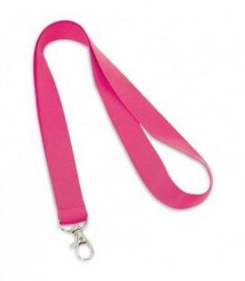 """Тесьма с карабином для бейджа """"94405"""" розовый"""