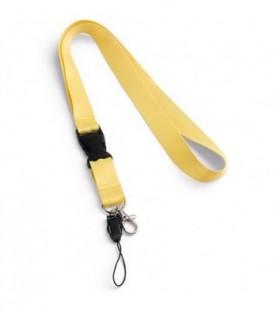 """Тесьма с карабином для бейджа с разъемом """"94401"""" с петлей, желтый"""