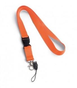 """Тесьма с карабином для бейджа с разъемом """"94401"""" с петлей, оранжевый"""