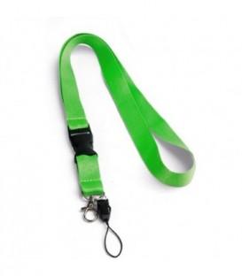 """Тесьма с карабином для бейджа с разъемом """"94401"""" с петлей, светло-зеленый"""
