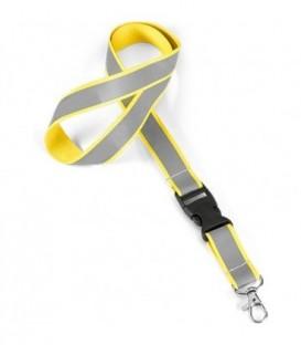 """Тесьма с карабином для бейджа с разъемом """"94407"""" Hiidea световозвращающая, желтый"""