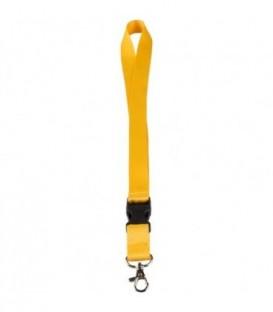 """Тесьма с карабином для бейджа с разъемом """"Nagasaki"""" желтый"""