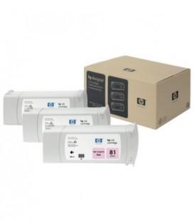 Картридж C5071A HP 81 3-pack 680-ml Light Magenta Dye Cartridges комплект картриджей струйных