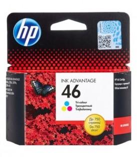 Картридж CZ638AE HP 46 Tri-Colour Ink Advantage Original Ink Cartridge картридж со встроенной печатающей головкой