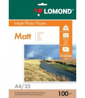 Бумага Lomond матовая 1х160г,100л,А4