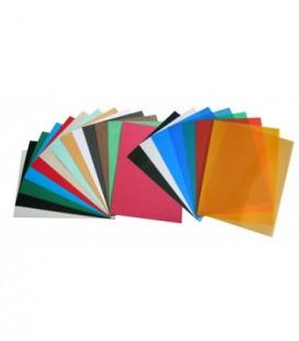 Обложки для переплета пластик матовый прозр.зеленый 0,35 мм ПП А4