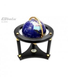 Глобус напольный d 22см высота 35см, сфера инкрустирована