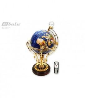 Глобус напольный d 22см высота 50см, сфера инкрустирована