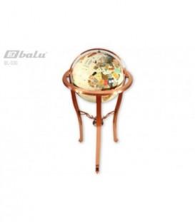 Глобус напольный d 32см высота 90см, сфера инкрустирована