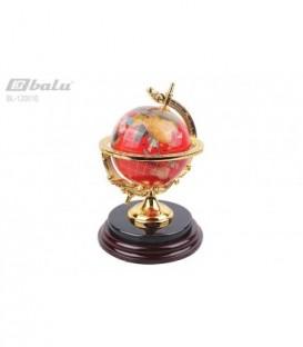 Глобус настольный d 10см, высота 22,0*15,0*15,0см, цвет красный