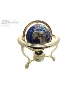 Глобус настольный d 14см, высота 24см, сфера полудрагоценный камень
