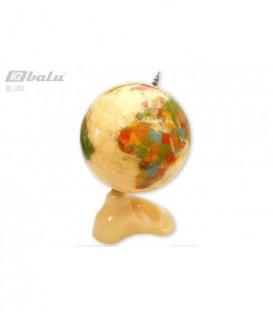 Глобус настольный d 25см, высота 43см, сфера полудрагоценный камень
