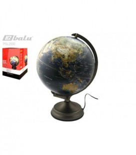 Глобус настольный, d 30см, рельефная поверхность, с подсветкой