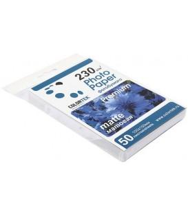 Бумага для струйной фотопечати матовая односторонняя Colortek А6 (100*150 мм), 230 г/м2, 50 л.