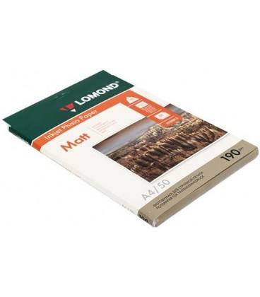 Бумага для струйной фотопечати матовая двусторонняя Lomond А4 (210*297 мм), 190 г/м2, 50 л., двусторонняя