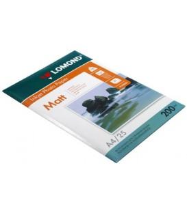 Бумага для струйной фотопечати матовая двусторонняя Lomond А4 (210*297 мм), 200 г/м2, 25 л., двусторонняя