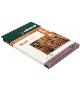 Бумага для струйной фотопечати матовая двусторонняя Lomond А4 (210*297 мм), 220 г/м2, 50 л., двусторонняя