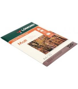 Бумага для струйной фотопечати матовая двусторонняя Lomond А4 (210*297 мм), 220 г/м2, 25 л., двусторонняя