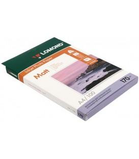 Бумага для струйной фотопечати матовая двусторонняя Lomond А4 (210*297 мм), 170 г/м2, 100 л., двусторонняя