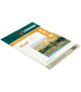 Бумага для струйной фотопечати матовая односторонняя Lomond А4 (210*297 мм), 140 г/м2, 25 л., односторонняя