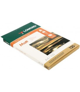 Бумага для струйной фотопечати матовая односторонняя Lomond А4 (210*297 мм), 120 г/м2, 100 л., односторонняя