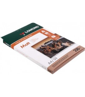 Бумага для струйной фотопечати матовая односторонняя Lomond А4 (210*297 мм), 230 г/м2, 50 л., односторонняя