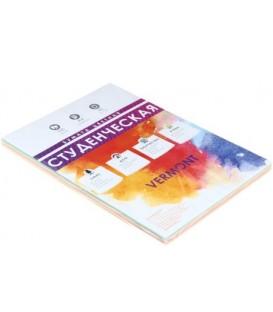 Бумага писчая офсетная цветная «Студенческая» А4 (210*297 мм), 100 л., 65 г/м2, пастель, 4 цвета