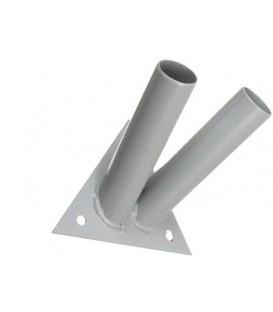 Кронштейн для флага 2-рожковый, внутренний диаметр 24 мм, угол 45°