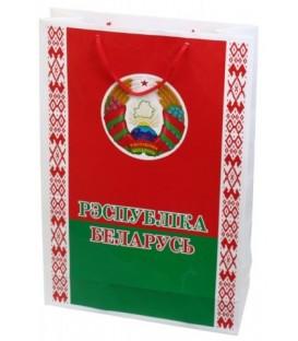 Пакет с символикой Беларуси большой, 300*450 мм, герб и флаг